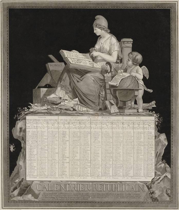 French Republican Calendar of 1794, drawn by Philibert-Louis Debucourt